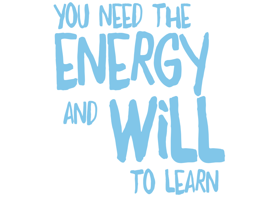 You need the energy and will to learn